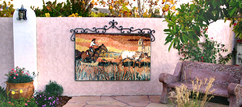 Outdoor Wall Mosaic Decoration